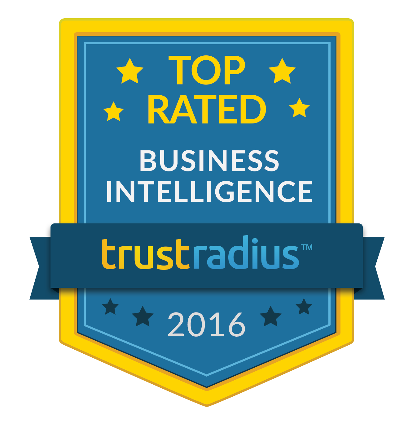 dundas data visualization trust radius top rated BI tool badge