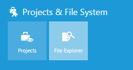 Projects & File System options