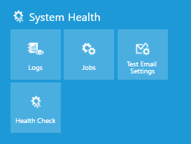 System Health options