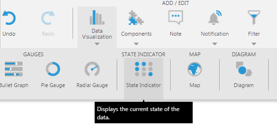 Add a state indicator from the toolbar