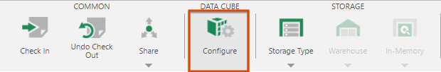 Configure the data cube
