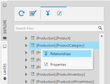 Select Relationships from the menu