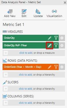 Edit the period over period measure