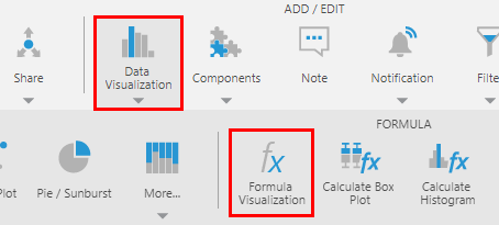 Select Formula Visualization from the toolbar