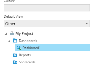 Set the default view to a specific dashboard