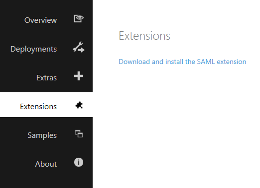 Download and install the SAML extension