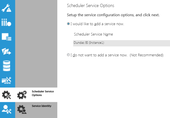 Scheduler Service Options
