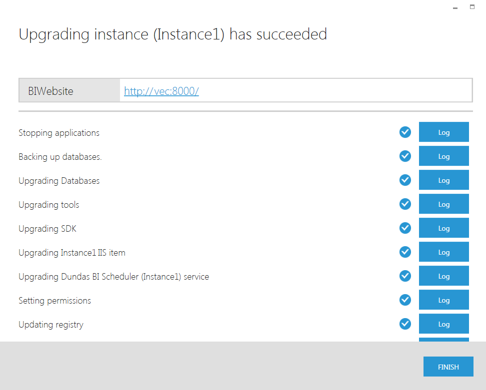 Upgrading instance has Succeeded