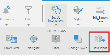 Click Set Up Interactions and select Data Input