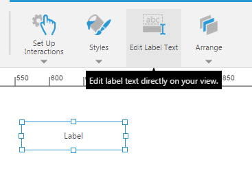 Click Edit Label Text