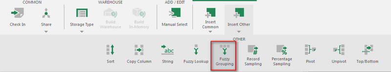 Adding the Fuzzy Grouping transform - Step 2