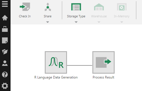 The R Language Data Generation transform is added