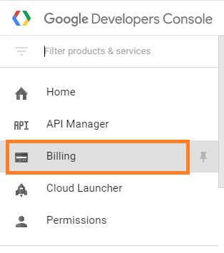 Project billing settings