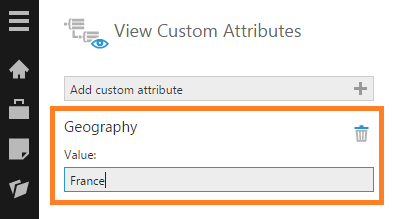 Set the Geography custom attribute value to France