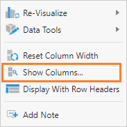 Select columns to show/hide
