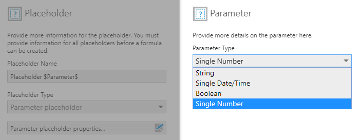 Optional: changing the parameter type
