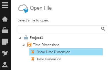 Select the new default time dimension