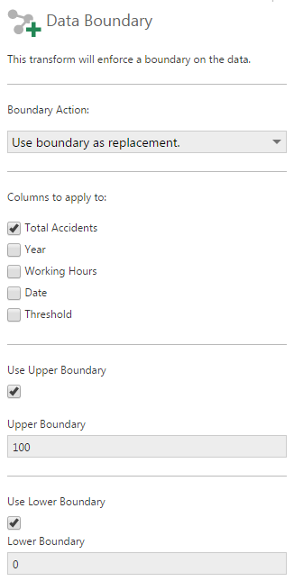 Data boundary transform usage