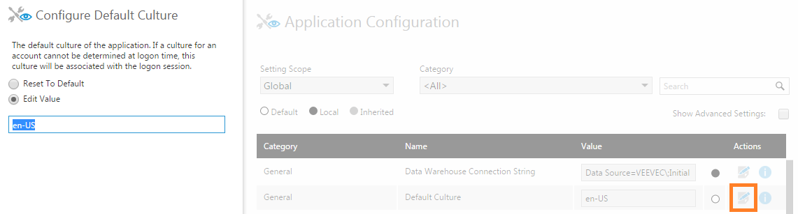 Modify a configuration setting