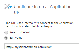 Internal Application URL