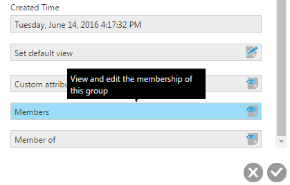 Edit Membership in Group Details