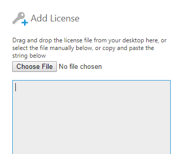 Copy and paste the license string