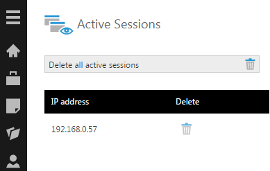 Active sessions associated with an account