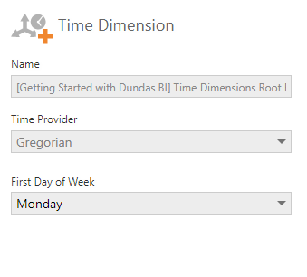 Select the time dimension options to override