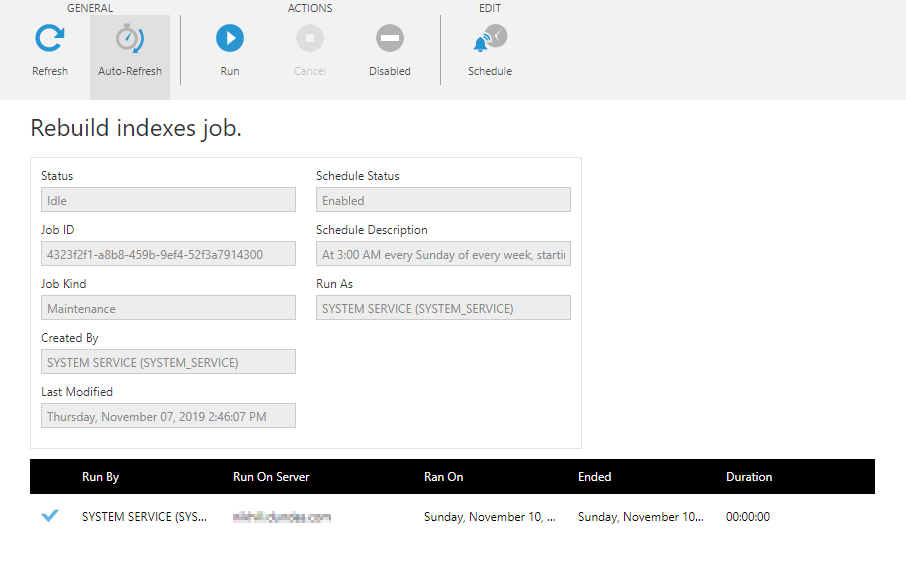 View the details of a notification job