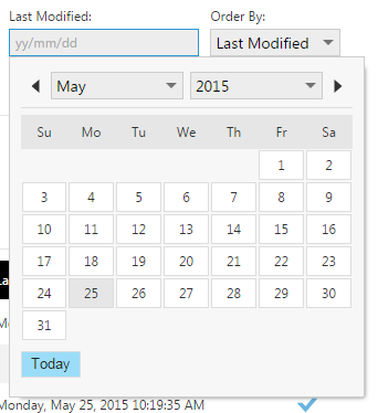 Filter jobs by last modified date