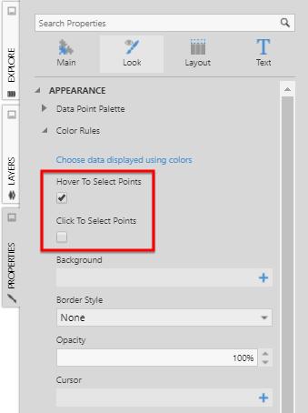 Using chart properties | Data Visualizations | Documentation