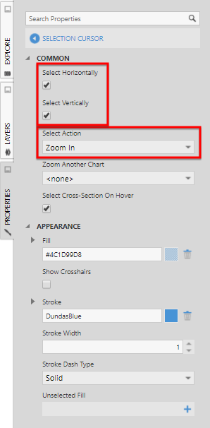 Change the Select Action to Zoom In