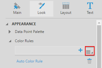 Color rule selection