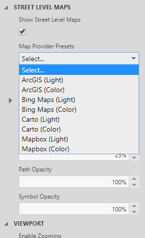 Select a map provider preset