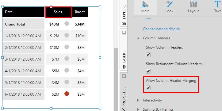 Using a table visualization | Data Visualizations