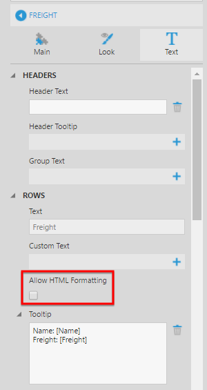 Allow HTML formatting