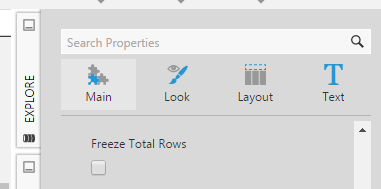 Freeze Total Rows property