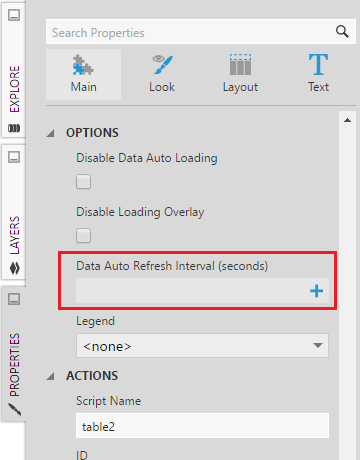 Data Auto Refresh Interval Property