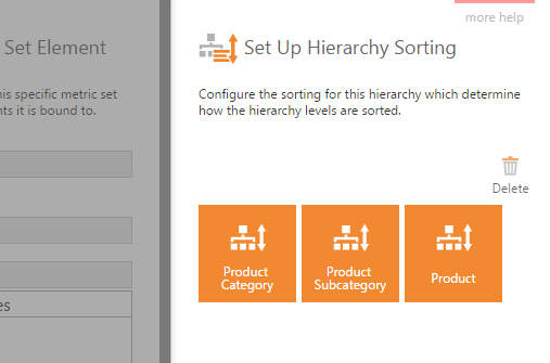 Set Up Hierarchy Sorting dialog