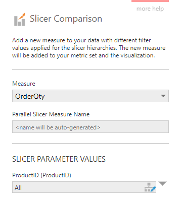 Select a measure and optionally enter a name