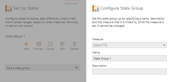 Configure State Group dialog