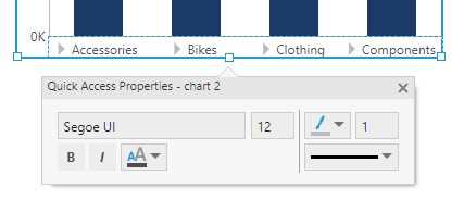 Quick Access Properties for a chart axis and its font