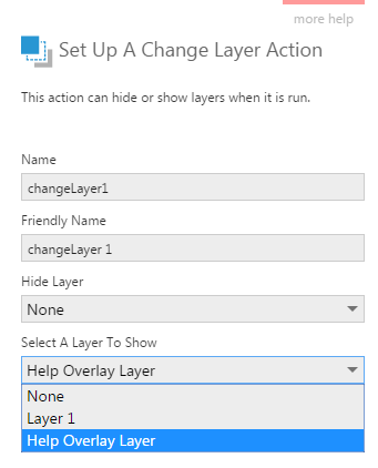 Setup a change layer action