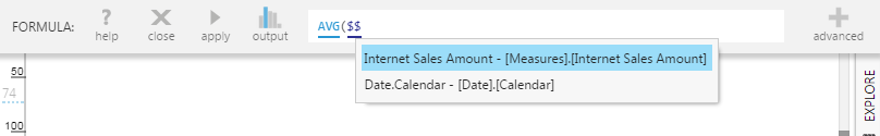 Select [Measures].[Internet Sales Amount]