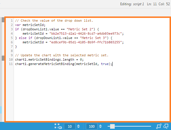 Using the script editor | Interactions | Create & View