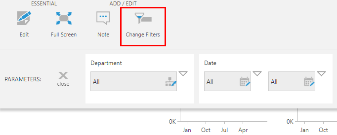 Click Change Filters to open the parameter bar