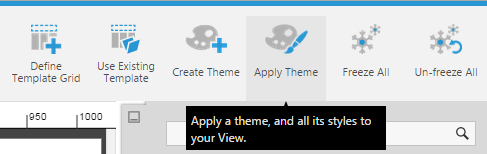 Click Apply Theme from toolbar