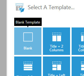 Blank dashboard template