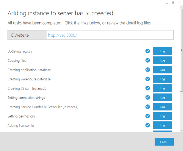 Adding Instance to Server has Completed