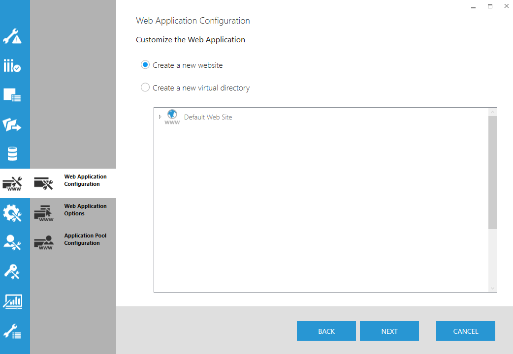Web Application Configuration